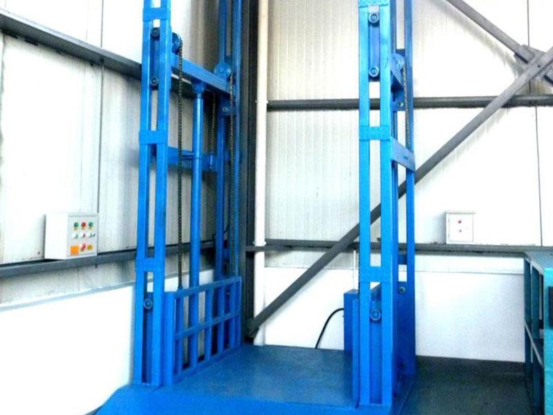 Chain rail type elevating platform