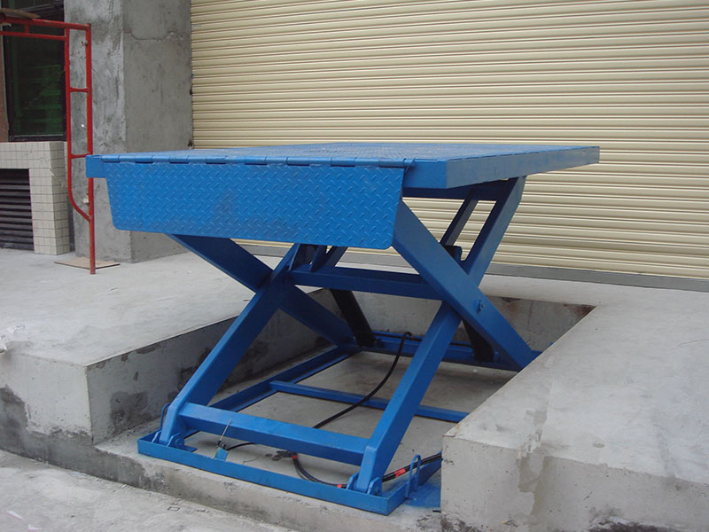 Fixed scissors type elevating platform